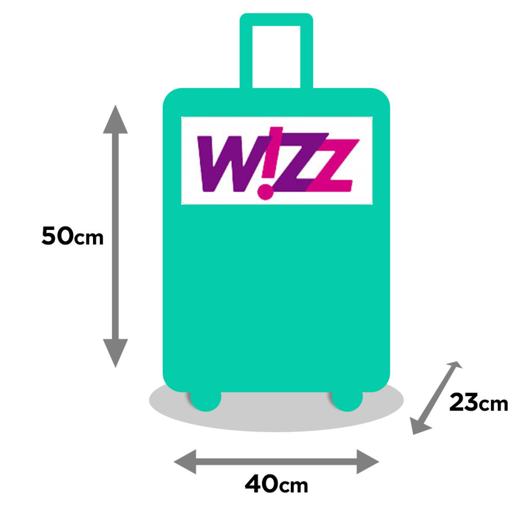 Airlinr Baggaje Sizes Wizz Nou Zip Up
